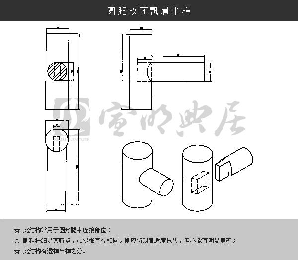 中国传统家具榫卯结构图